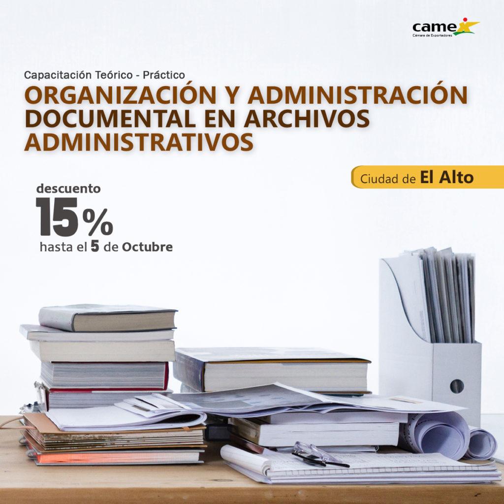 Organización y administración documental en archivos administrativos